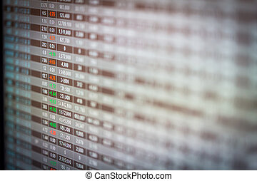 concetto, finanziario, dati, mostra, mercato, casato