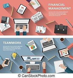 concetto finanziario, lavoro squadra, menagement