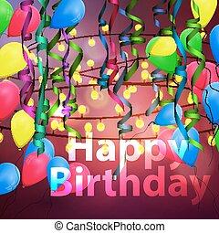 concetto, fondo, celebrazione compleanno