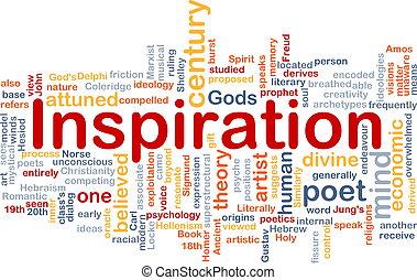 concetto, fondo, ispirazione