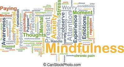 concetto, fondo, mindfulness
