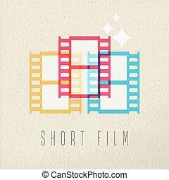 concetto, fotografia a colori, corto, disegno, film, icona