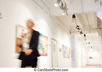 concetto, galleria arte
