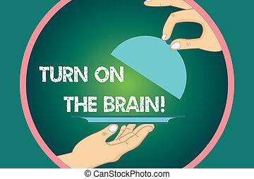 concetto, generazione, testo, mente, circle., servire, brain., tuo, coperchio, idee, colore scrittura, attivare, affari, hu, mani, sollevamento, parola, dentro, analisi, turno, tempo, piatto da portata, vassoio, pensare