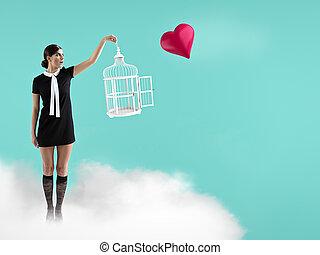 concetto, giorno, valentines