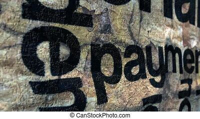 concetto, grunge, pagamento
