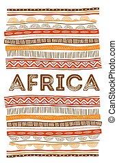 concetto, grunge, tribale, pattern., tradizionale, fondo, disegno, aviatore, africano