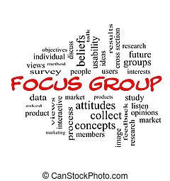 concetto, gruppo, fuoco, cappucci, nuvola, parola, rosso