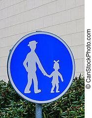 concetto, guida, -, segno, pedone, strada, ?arental