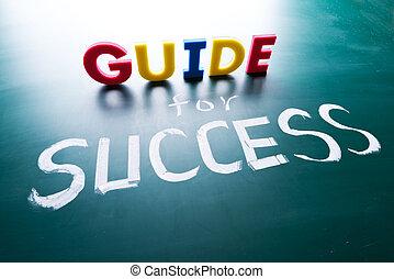 concetto, guida, successo
