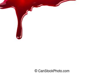 concetto, :, halloween, sangue, sgocciolatura