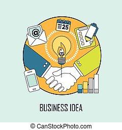 concetto, idea, affari