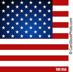 concetto, illustration., bandiera, americano, vettore,...