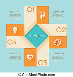 concetto, infographic, affari