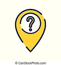 concetto, informazioni, mark., domanda, come, posizione, a, domanda, aiuto, icona