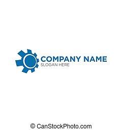 concetto, ingranaggio, automobilistico, vettore, disegno, logotipo