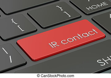 concetto, ir, interpretazione, caldo, contatto, chiave, keyboard., rosso, 3d