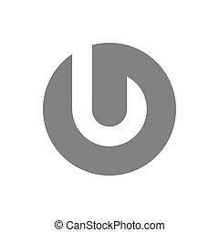 concetto, j, vettore, lettera, logotipo, icon.