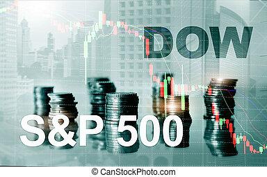 concetto, jones., sp500, finanziario, dow, americano, ...