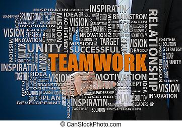 concetto, lavoro squadra