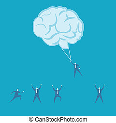 concetto, lavoro squadra, brainstorm, idea