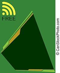 concetto, libero, parola accesso, disegno, wifi