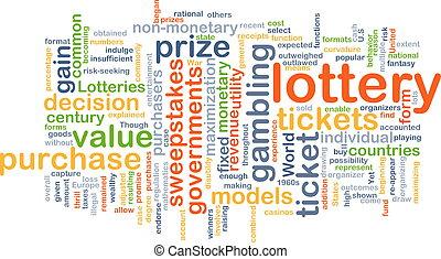 concetto, lotteria, fondo