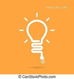concetto, luce, coperchio, creativo, aviatore, disegno, manifesto, opuscolo, bulbo