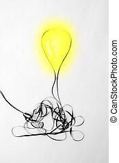 concetto, luce, idea luminosa, innovazione, bulbo