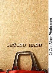 concetto, mano, secondo