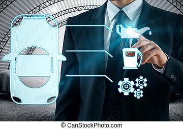 concetto, manutenzione, trasporto