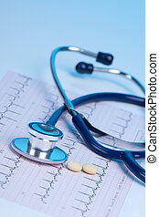 concetto medico, -, cuore, controllo