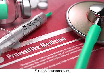 concetto, medico, fondo., medicine., preventivo, rosso