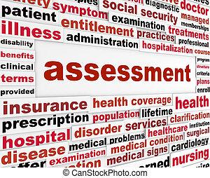 concetto medico, valutazione, parole