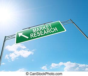 concetto, mercato, ricerca