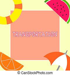 concetto, mezzi, testo, esposizione, veicoli, sistema, significato, beni, trasportare, scrittura, transportation.