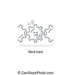 concetto, molto, lavoro