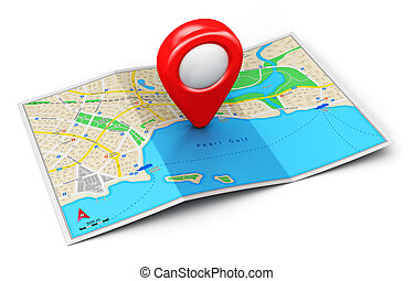 concetto, navigazione, gps