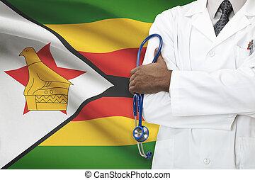 concetto, nazionale, -, sistema, zimbabwe, sanità