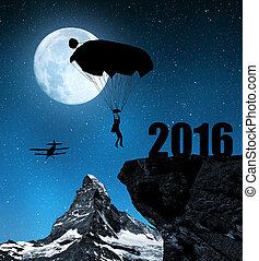 concetto, nuovo, 2016, anno