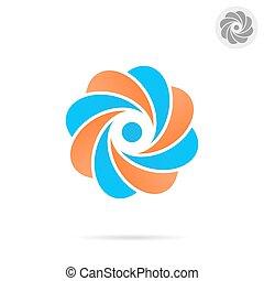 concetto, -, o, segmentato, lettera, cerchio