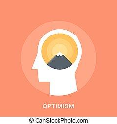 concetto, ottimismo, icona
