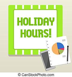 concetto, parola, affari, testo, personale, lavoro, scrittura, straordinario, hours., sotto, vacanza, flessibile, schedules.