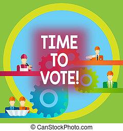 concetto, parola, avanti, affari, testo, tempo, un po', scrittura, candidati, scegliere, fra, govern., vote., elezione