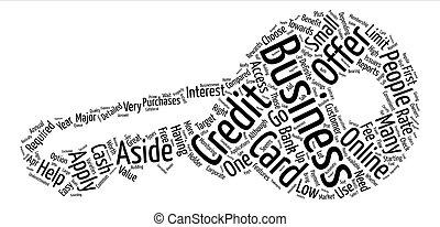 concetto, parola, businesscreditcard, fondo, testo, nuvola