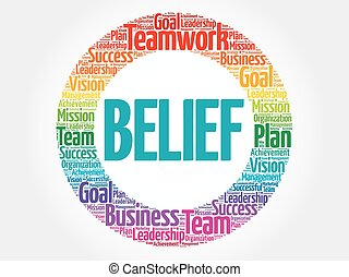 concetto, parola, credenza, affari, cerchio, nuvola