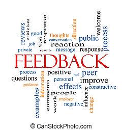 concetto, parola, feedback, nuvola