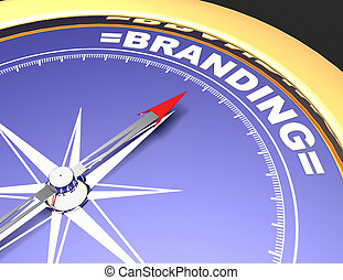 concetto, parola, indicare, marcare caldo, astratto, ago, bussola, branding.