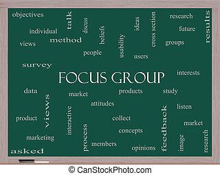 concetto, parola, lavagna, focalizzi gruppo, nuvola