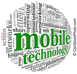 concetto, parola, mobile, etichetta, tecnologia, nuvola